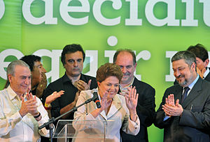 Português: Dilma Rousseff faz o primeiro pronu...