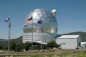 Dome of the 9.2 m Hobby-Eberly Telescope. It h...