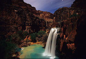 Havasu Falls at Night.