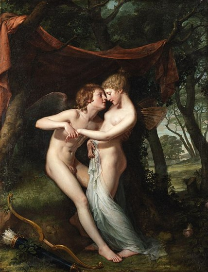 """""""Cupid and Psyche in the Nuptial Bower"""" by Hugh Douglas Hamilton"""