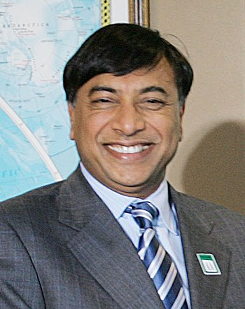 English: Lakshmi Mittal, Indian billionaire in...