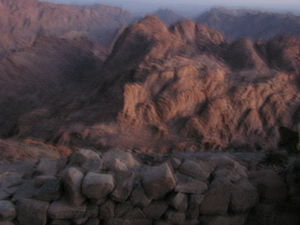 English: Mount Sinai before sunrise June 2006 ...