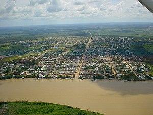 Aerial view of San José del Guaviare