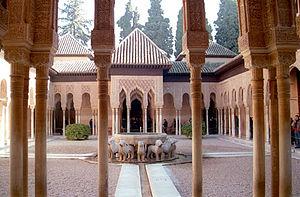 Patio de los Leones (Courtyard of the Lions), ...