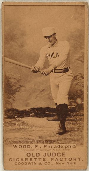 Baseball card of Pete Wood.
