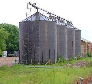 Silos Grain silos in the old station yard, Sco...