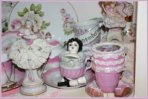 Vintage porcelain and china doll