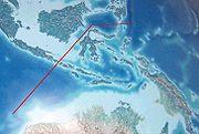 Garis khayal Wallace yang memisahkan fauna Australasia dengan Asia Tenggara.