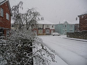 Winton, heavy snowfall - geograph.org.uk - 1150414