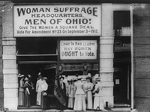 Woman suffrage headquarters in Upper Euclid Av...
