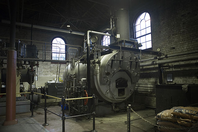 File 19th Century Heat Machine Room With Coal Boiler