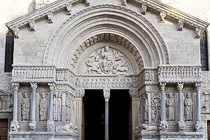 Français : Arles, St. Trophime, Portail