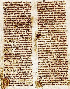 Página do tratado Ars Nova Musicae, de Philipp...