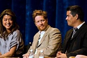 Actors Grace Park, Eric Stoltz and Esai Morale...