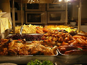 English: Hungarian cuisine at the market.