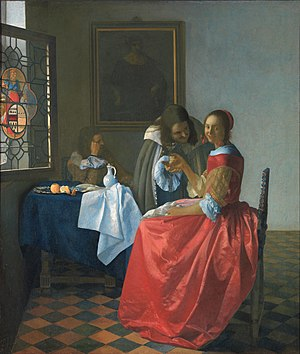 Johannes Vermeer, The Girl with the Wine Glass...