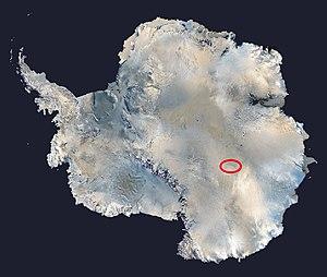 Location of Lake Vostok in East Antarctica