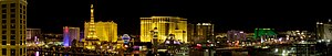 Night Panorama of the Las Vegas Strip, featuri...
