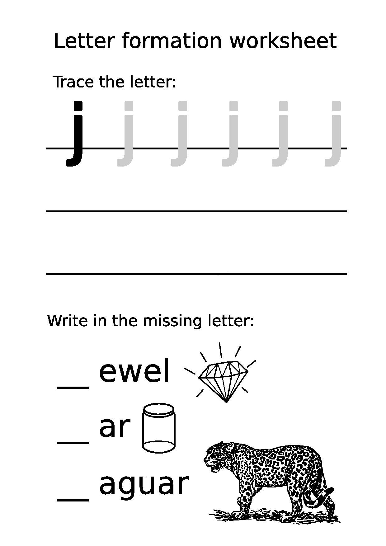 File Letter Formation Worksheet Lowercase J