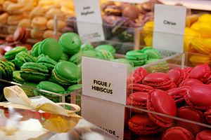 Macarons sold at La Grande Epicerie shop in Pa...