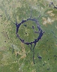 Manicouagan Reservoir - View from orbit (Image...
