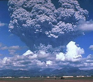 Ash plume of Pinatubo during 1991 eruption.