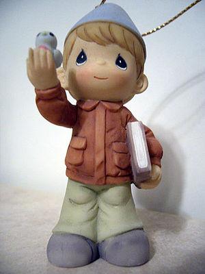 Precious Moments figurine of a boy in uniform ...