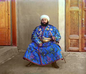 Mohammed Alim Khan, Emir of Bukhara, taken in ...