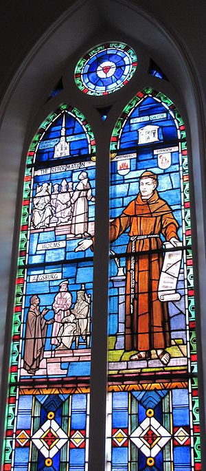 English: The Reformation stained glass window ...