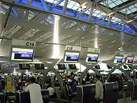 Check-in desks in Suvarnabhumi Airport