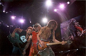 Michael Anthony, Sammy Hagar, and Eddie Van Ha...