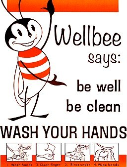 Wash your hands poster CDC - Wellbee