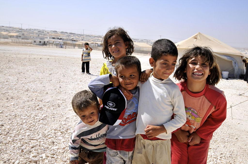 Syriska barn, portade från Europa