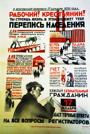 Promotional poster to the 1926 Census