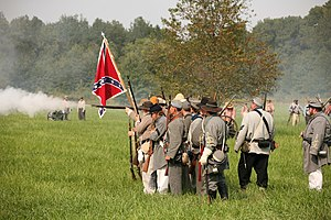 Civil war reenactment at Kennekuk County Park,...