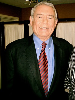 Cropped and modified photo of Dan Rather