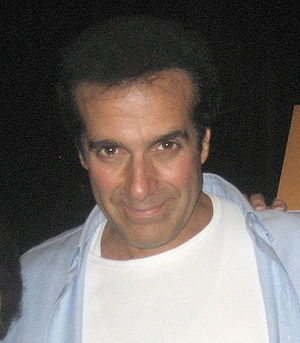Illusionist David Copperfield after the evenin...