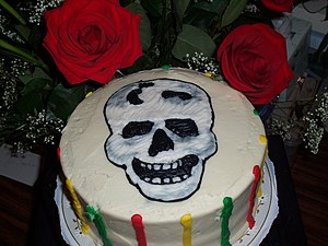 English: Day of the Dead cake This is the trad...