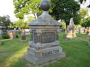 George Hamilton tombstone, Hamilton Cemetery, ...