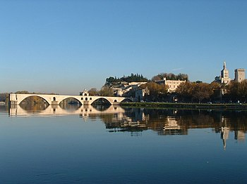 The bridge over the River Rhône at Avignon (ph...