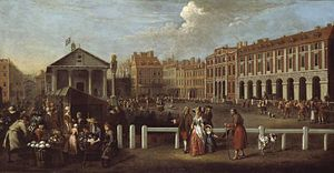 Covent Garden Market by Balthazar Nebot, 1737
