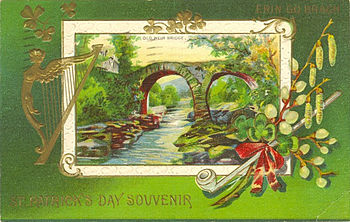 "English: Postcard: ""St. Patrick's Day Sou..."