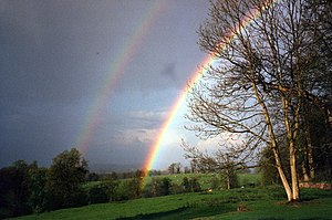 English: Rainbows at Clytha