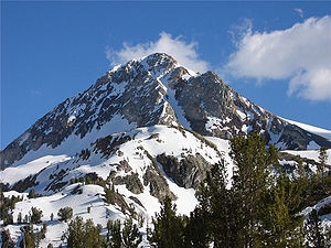 Picture of Red Slate Mountain taken from the m...