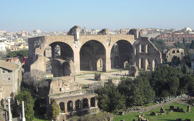 File:Rome, Forum Romanum, Basilica of Maxentius.jpg