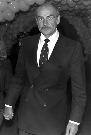 Sean Connery at the private party after the pr...