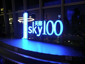 English: Sky100 Observation Deck 中文: 天際100觀景台