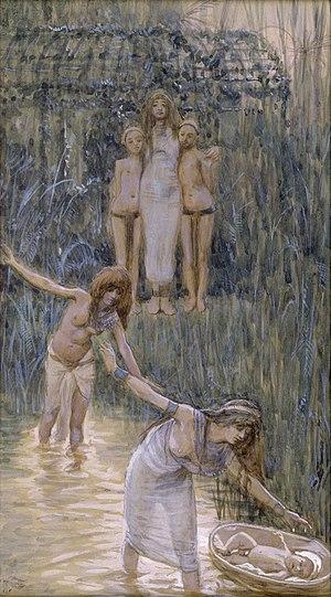 English: Pharaoh's Daughter Has Moses Brought ...