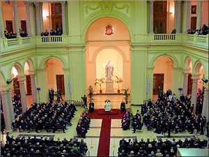 Visit of Benedict XVI to the Pontifical Gregor...
