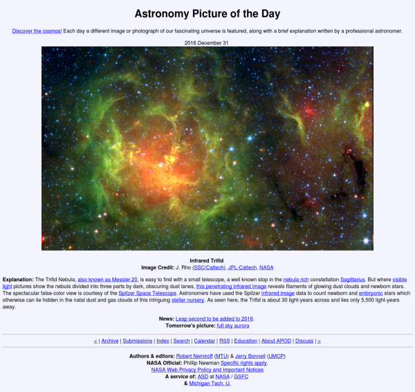 Astronomy Picture of the Day - Wikipedia